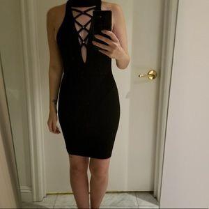 LF black bodycon dress